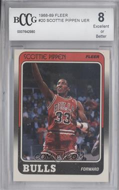 1988-89 Fleer - [Base] #20 - Scottie Pippen [ENCASED]