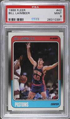 1988-89 Fleer - [Base] #42 - Bill Laimbeer [PSA 9]