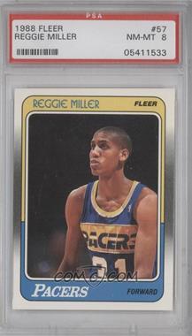 1988-89 Fleer - [Base] #57 - Reggie Miller [PSA8]