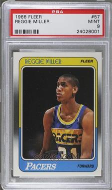 1988-89 Fleer - [Base] #57 - Reggie Miller [PSA9]