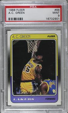 1988-89 Fleer - [Base] #66 - A.C. Green [PSA 9]