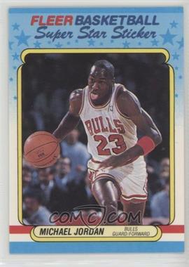 1988-89 Fleer Super Star Sticker - [Base] #7 - Michael Jordan