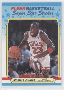 1988-89 Fleer Super Star Sticker - [Base] #7 - Michael Jordan
