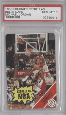 1988 Fournier Estrellas - [Base] #NoN - Michael Jordan (Rules Card) [PSA10]