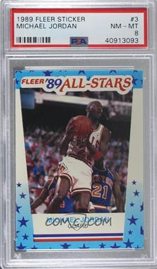 1989-90 Fleer - All-Stars Stickers #3 - Michael Jordan [PSA 8 NM‑MT]
