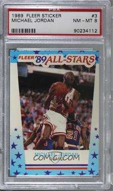 1989-90 Fleer - All-Stars Stickers #3 - Michael Jordan [PSA8NM‑MT]