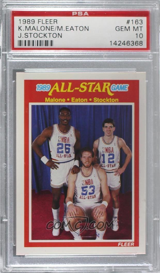 buy popular 44367 161a7 1989-90 Fleer - [Base] #163 - All-Star Game - Karl Malone ...