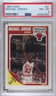 1989-90 Fleer - [Base] #21 - Michael Jordan [PSA8NM‑MT]