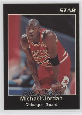 1989-91 Star Michael Jordan Ad Cards - [Base] #NoN.7 - Michael Jordan (Black Border Hands on Knees)