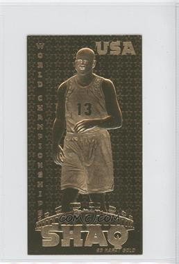 1990-00 Classic 23KT - [Base] #SHON.2 - Shaquille O'Neal (USA World Championships) /10000