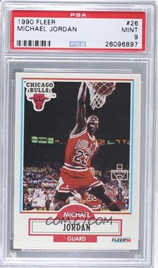 1990-91 Fleer - [Base] #26 - Michael Jordan [PSA9MINT]