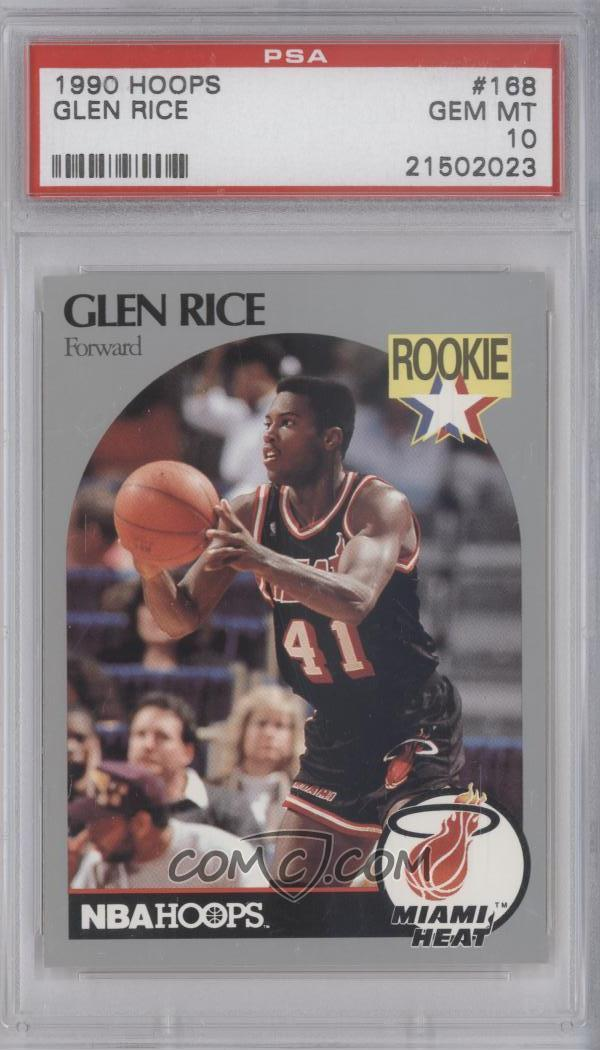 1990 91 Nba Hoops Base 168 Glen Rice Psa 10 Gem Mt