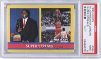 Super Streaks (Magic Johnson, Michael Jordan) [PSA9]