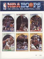 Isiah Thomas, Michael Jordan, Patrick Ewing, Larry Bird, Robert Parish, Clyde D…