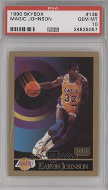 1990-91 Skybox - [Base] #138 - Magic Johnson [PSA 10]
