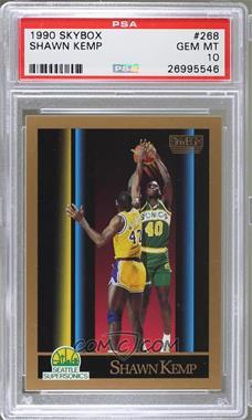 1990-91 Skybox - [Base] #268 - Shawn Kemp [PSA10]