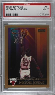 7543113e1ce 1990-91 Skybox -  Base   41 - Michael Jordan  PSA 7 NM  - COMC Card ...