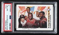 Michael Jordan, Scottie Pippen, Horace Grant, John Paxson, Bill Cartwright [PSA…