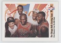 Michael Jordan, Scottie Pippen, Horace Grant, John Paxson, Bill Cartwright