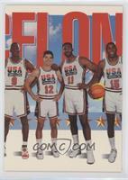 Team USA (Michael Jordan, John Stockton, Karl Malone, Magic Johnson)