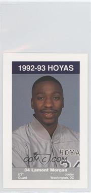 1992-93 Coca-Cola Georgetown Hoyas Kids & Cops Police - [Base] #14 - Lamont Morgan