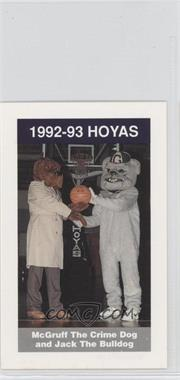 1992-93 Coca-Cola Georgetown Hoyas Kids & Cops Police - [Base] #16 - McGruff the Crime Dog and Jack the Bulldog
