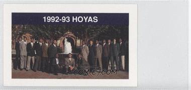 1992-93 Coca-Cola Georgetown Hoyas Kids & Cops Police - [Base] #N/A - Georgetown Hoyas Team