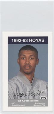 1992-93 Coca-Cola Georgetown Hoyas Kids & Cops Police - [Base] #N/A - Kelly Miller