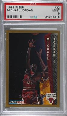 1992-93 Fleer - [Base] #32 - Michael Jordan [PSA9MINT]