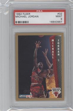 1992-93 Fleer - [Base] #32 - Michael Jordan [PSA 9]