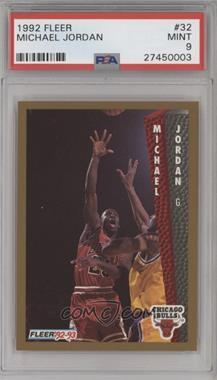 1992-93 Fleer - [Base] #32 - Michael Jordan [PSA9]