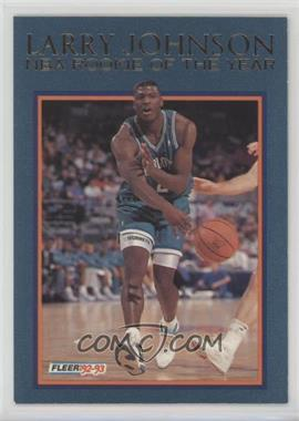 1992 93 Fleer Larry Johnson Rookie Of The Year 6 Larry Johnson