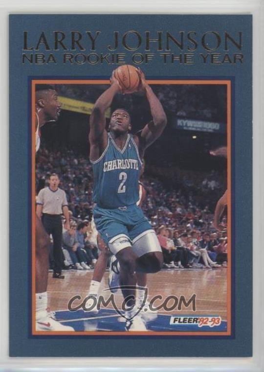 1992 93 Fleer Larry Johnson Rookie Of The Year 8 Larry