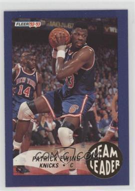 1992-93 Fleer - Team Leaders #18 - Patrick Ewing