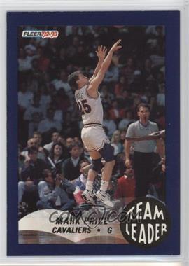 1992-93 Fleer - Team Leaders #5 - Mark Price