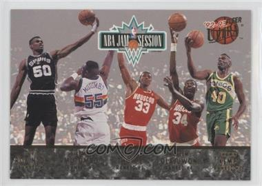 1992-93 Fleer Ultra - NBA Jam Session #N/A - David Robinson, Dikembe Mutombo, Otis Thorpe, Hakeem Olajuwon, Shawn Kemp, Charles Barkley, Pervis Ellison, Chris Morris, Brad Daugherty, Derrick Coleman