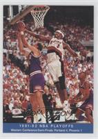 1991-92 NBA Playoffs - Western Conference Semi-Finals: Portland 4, Phoenix 1
