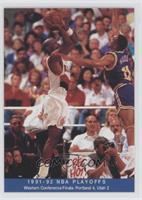 1991-92 NBA Playoffs - Western Conference Finals: Portland 4, Utah 2