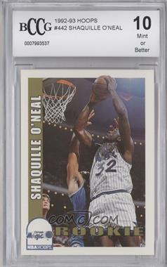 1992-93 NBA Hoops - [Base] #442 - Shaquille O'Neal [ENCASED]