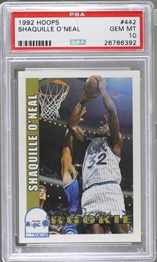 1992-93 NBA Hoops - [Base] #442 - Shaquille O'Neal [PSA10]