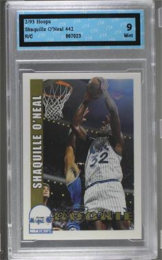 1992-93 NBA Hoops - [Base] #442 - Shaquille O'Neal [ENCASED]