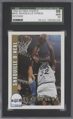 1992-93 NBA Hoops - [Base] #442 - Shaquille O'Neal [SGC98]
