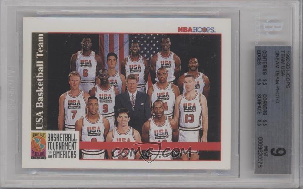 40e6bad21bc0 1992-93 NBA Hoops -  Base   NoN - Team USA (Olympics) Team