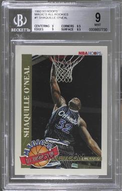 1992-93 NBA Hoops - Magic's All-Rookie Team #1 - Shaquille O'Neal [BGS9]