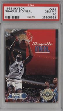 1992-93 Skybox - [Base] #382 - Shaquille O'Neal [PSA10GEMMT]
