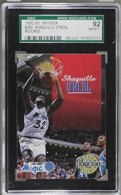 1992-93 Skybox - [Base] #382 - Shaquille O'Neal [SGC 92 NM/MT+ 8.5]