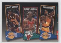 James Worthy, Michael Jordan, Sam Perkins