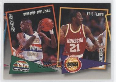 1992-93 Skybox - School Ties #ST2 - Dikembe Mutombo, Eric Floyd