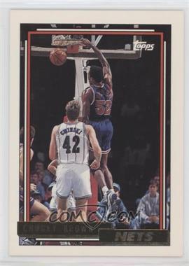 1992-93 Topps - [Base] - Gold #263 - Chucky Brown