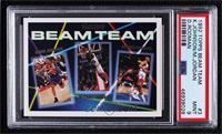 Dennis Rodman, Michael Jordan, Kevin Johnson [PSA9MINT]